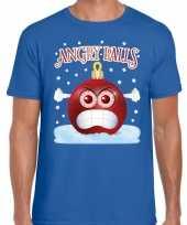 Goedkope blauw fout kersttrui trui angry balls voor heren