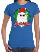Goedkope blauw fout kersttrui trui just chillin voor dames