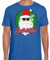 Goedkope blauw fout kersttrui trui just chillin voor heren