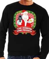 Goedkope foute kersttrui zwart can i borrow some presents voor heren