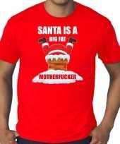 Goedkope grote maten fout kersttrui outfit santa is a big fat motherfucker rood voor heren