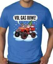 Goedkope grote maten fout kersttrui trui blauw monstertruck santa voor heren