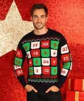 Goedkope kerstmis trui met adventskalender 10075519
