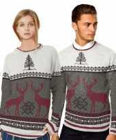 Goedkope kerstmis trui met rendieren voor mannen 10070861