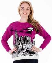 Goedkope kerstmis trui pink london voor vrouwen