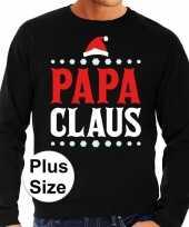 Goedkope plus size zwarte foute kersttrui sweater papa claus voor heren