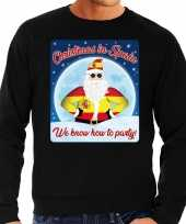 Goedkope zwarte foute spanje kersttrui sweater christmas in spain we know how to party voor heren